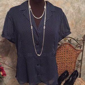 Sag harbor button up shirt top blouse tunic.